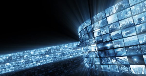 3d,Rendering.,Glamorous,Bright,Video,Wall